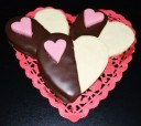 Valentine  dip chocolate cookie