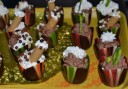 Tulips with chocolate mousse